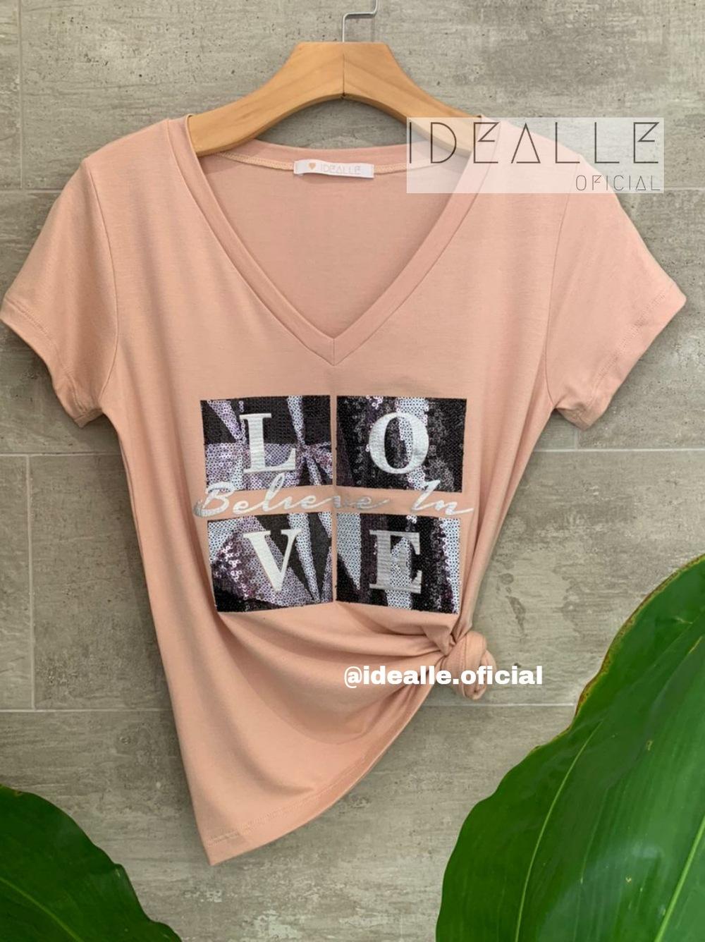 Imagem do produto T-Shirt Belive in Love Rose