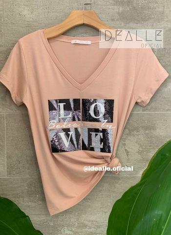 imagem T-Shirt Belive in Love Rose