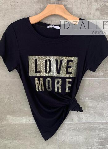 imagem T-Shirt Love More Preta