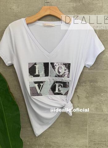 imagem T-Shirt Belive in Love Branca