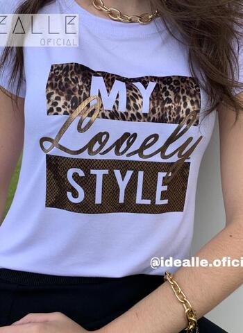 imagem T-Shirt Lovely Branca