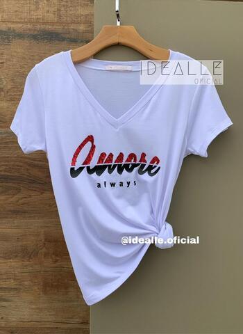 imagem T-Shirt Amore Branca