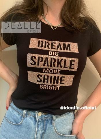 imagem T-Shirt Shine Preta