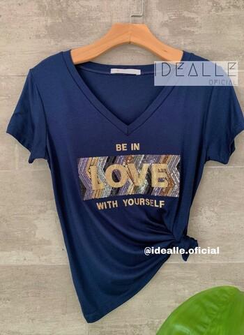 imagem T-shirt Love Marinho