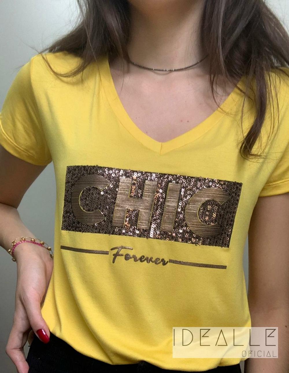 Imagem do produto T-Shirt Chic Bronze em V