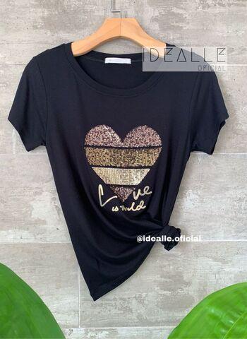 imagem T-Shirt Esmeralda Preta