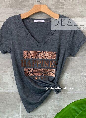 imagem T-Shirt Happines Cinza