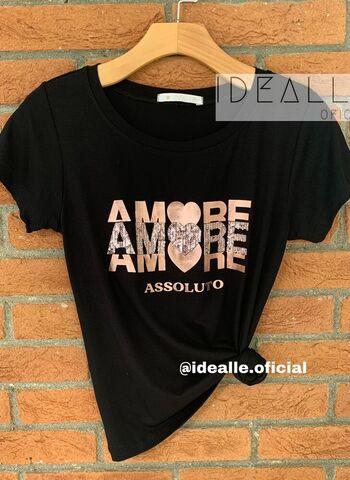 imagem T-Shirt Amore Preta