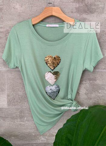 imagem T-Shirt Idealle Verde Clara