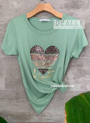 imagem T-Shirt Esmeralda Verde Claro