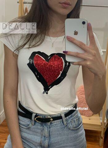 imagem T-Shirt Coração Rubi Branco
