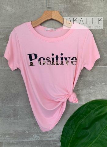imagem T-Shirt Positive Rosa