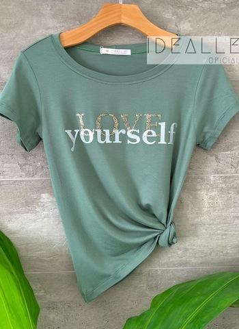 imagem T-Shirt Love Yourself Verde
