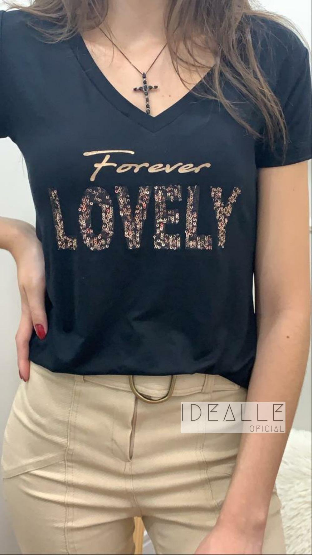 Imagem do produto T-Shirt Lovely Preta