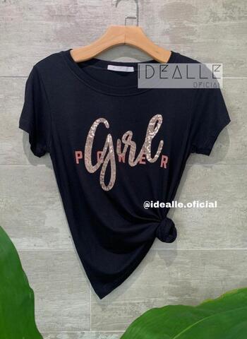imagem T-Shirt Girl Power Preta